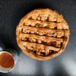 apple pie, tea, dessert