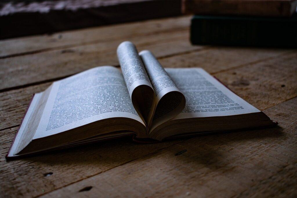 book, love heart, love