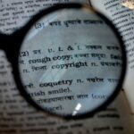 copyright, magnifier, magnifying glass
