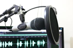 microphone, podcast, pop filter