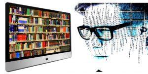 library, boy, man
