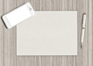 paper, pen, blank