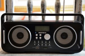 radio, music, listening
