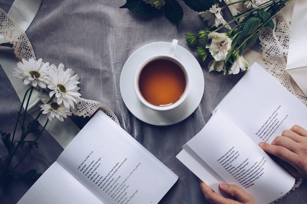tea time, poetry, coffee
