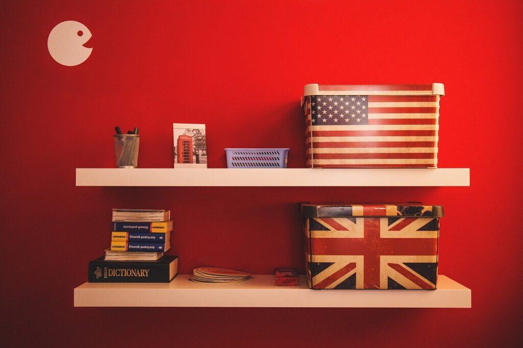 american, books, boxes