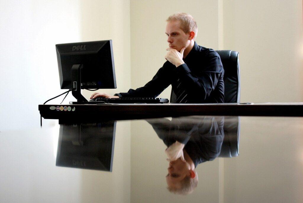 business, businessman, chair