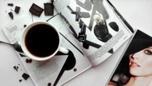 coffee, drinks, magazine