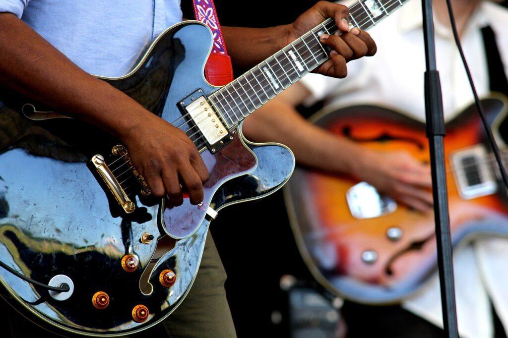 guitars, instruments, perform
