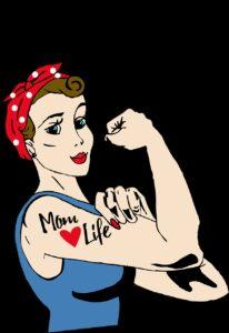 mom, tattoo, rosie