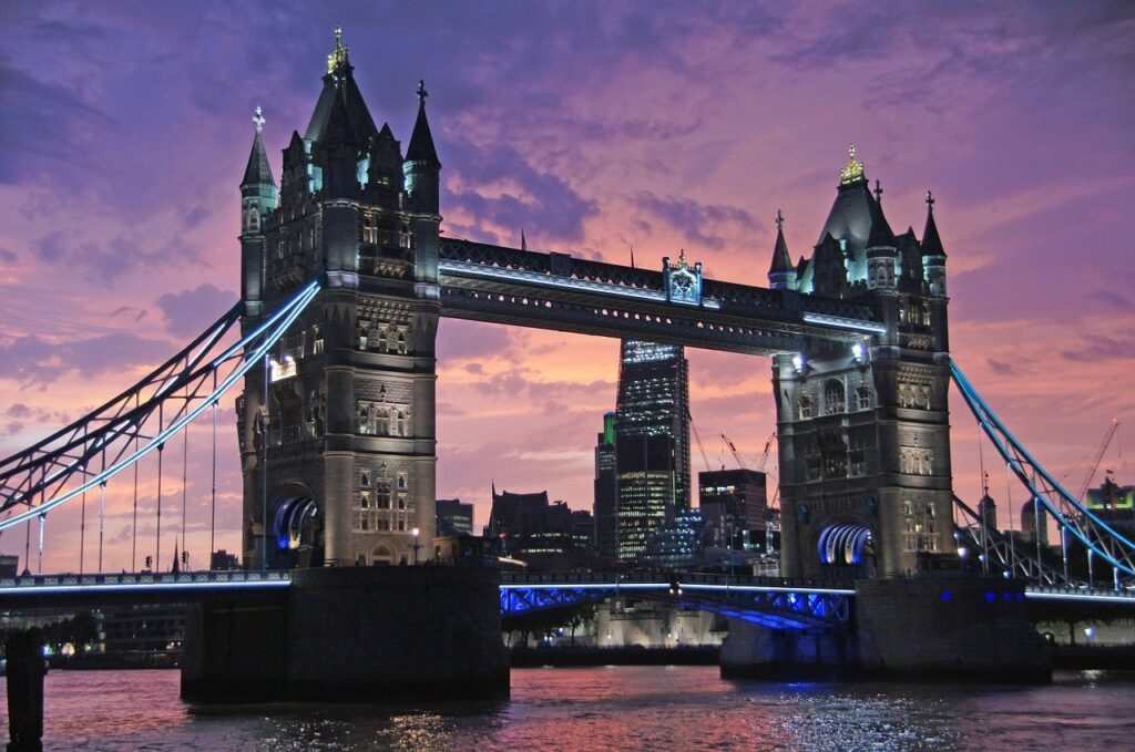 tower bridge, bridge, sunset